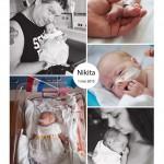 Nikita 28 weken prematuur geboren