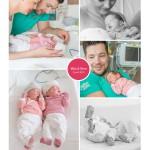 Mila en Nine tweeling prematuur geboren vliezen gebroken 31 weken
