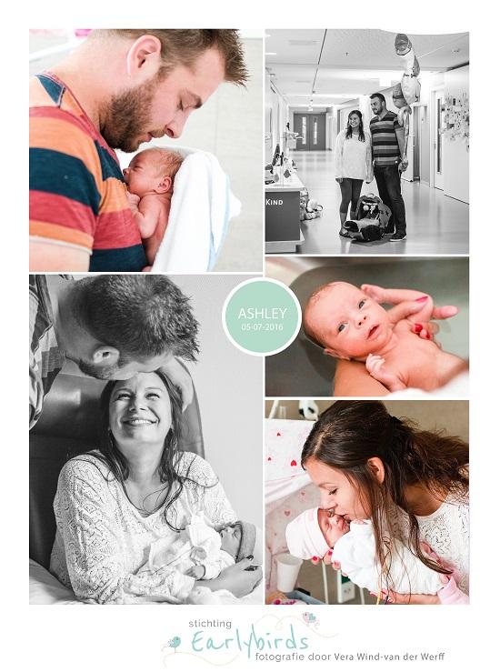 Ashley prematuur geboren 32 weken vliezen gebroken stuitligging spoedkeizersnede