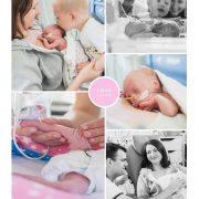 Laura, prematuur geboren met 27 weken waterpokken quarantaine