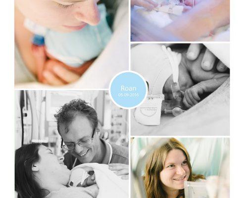 Roan prematuur geboren met 30 weken en 2 dagen, hoge bloeddruk, CTG, longrijping, pre eclampsie, keizersnede, NICU