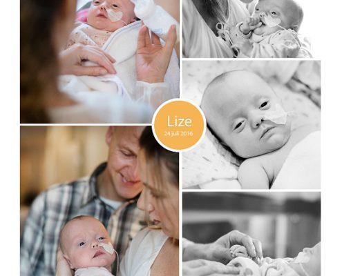 Lize prematuur geboren met 24 weken en 1 dag, longrijping, spoedkeizersnede, NIPPV, CPAP, low flow, sondevoeding