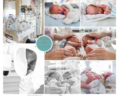 Thomas & Claire prematuur geboren met 32 weken en 1 dag, CTG, tweeling,pre eclampsie, HELLP, longrijping, keizersnede, ruggenprik, couveuse
