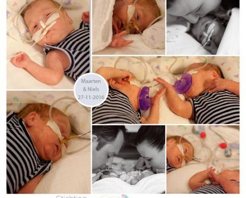 Maarten & Niels prematuur geboren met 24 weken, tweeling, AMC