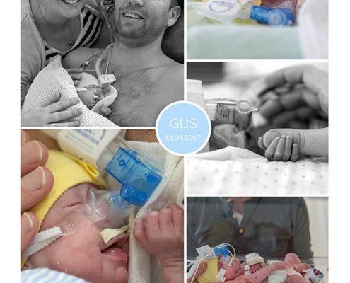 Gijs prematuur geboren met 24 weken en 3 dagen, WKZ, weeenremmers, longrijping