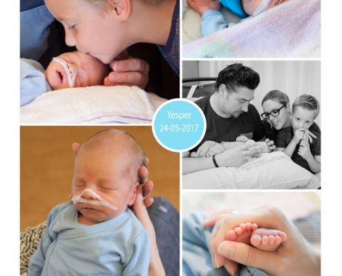 Yesper prematuur geboren met 33 weken en 5 dagen. UMCG, weeen