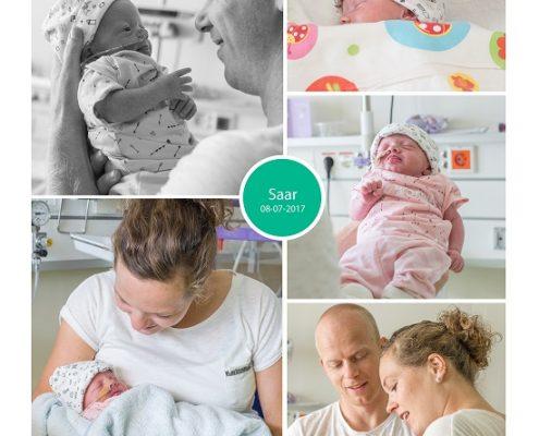 Saar prematuur geboren met 34 weken, Martini ziekenhuis, borstvoeding