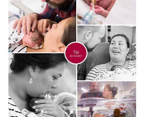 Tijs prematuur geboren met 28 weken en 4 dagen, gebroken vliezen, UMCG