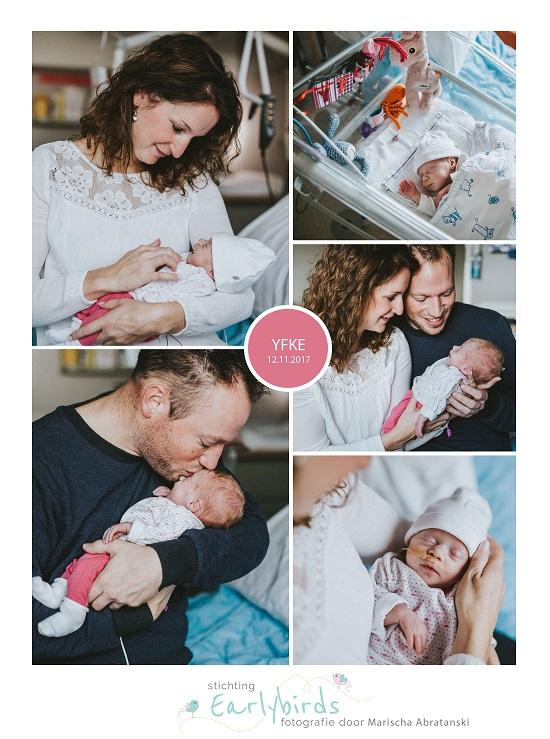 Yfke, prematuur geboren met 33 weken, infectie