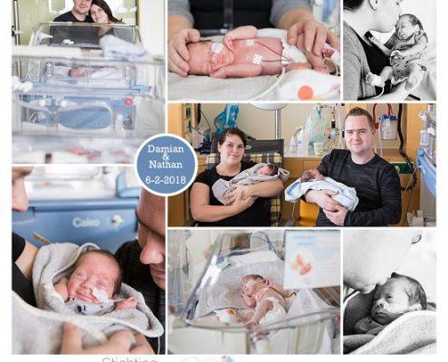 Damian & Nathan prematuur geboren met 30 weken en 2 dagen, tweeling, gebroken vliezen, Radboud UMC, Gelderse Vallei