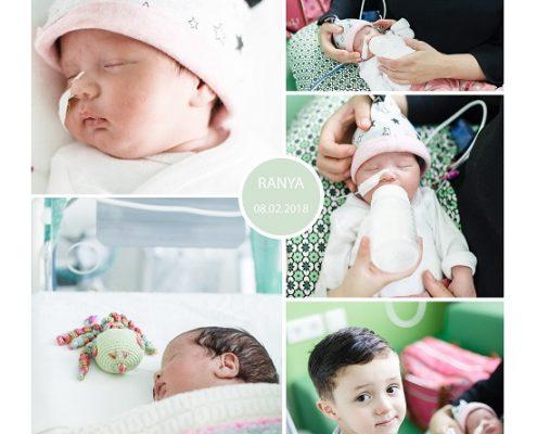Ranya prematuur geboren met 30 weken, Juliana Kinder Ziekenhuis, LUMC, sondevoeding