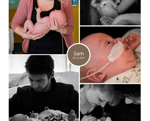 Sam prematuur geboren met 28+ weken, VU, ambulance