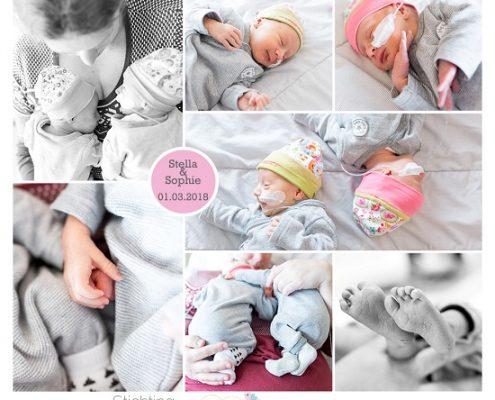 Stella & Sophie prematuur geboren met 34 weken en 1 dag, Rivierenland ziekenhuis, tweeling, TTS, WKZ, gebroken vliezen, buidelen