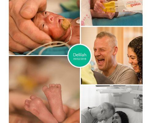 Delilah prematuur geboren met 24 weken en 3 dagen, LUMC, keizersnede, placenta