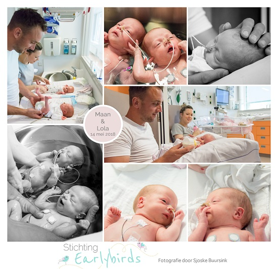 Maan & Lola prematuur geboren met 33 weken en 6 dagen, CWZ Nijmegen, tweeling, sondevoeding