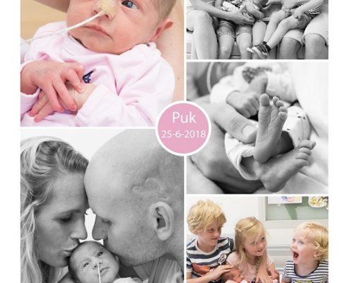Puk prematuur geboren met 33 weken, sondevoeding, couveuse, CWZ