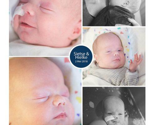 Sietse & Hielke prematuur geboren met 31 weken en 4 dagen, Nij Smellighe, tweeling, TTS, UMCG, sonde