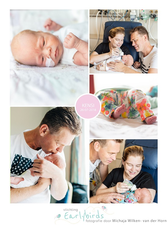 Kensi prematuur geboren met 32 weken en 2 dagen, pre-eclampsie, Gemini Den Helder, AMc Amsterdam, HELLP syndroom, spoedkeizersnede, couveuse, antibiotica