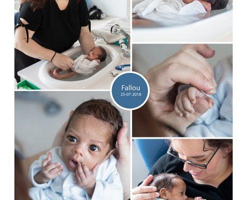 Fallou prematuur geboren met 32 weken en 6 dagen, GZA St. Vicentius, longrijping, keizersnede, neonatologie, NICU, CPAP, couveuse, sonde