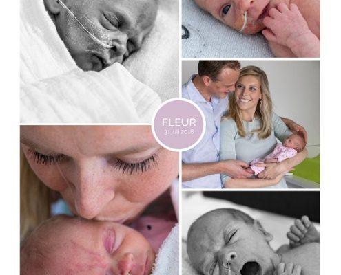 Fleur prematuur geboren met 35 weken en 6 dage, Spaarne ziekenhuis Haarlem, zwangerschapsvergiftiging, buidelen, flesvoeding