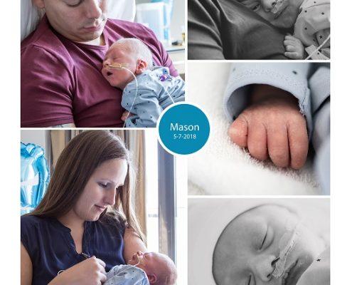Mason prematuur geboren met 34 weken, Zuijderland Medisch Centrum Heerlen, vroeggeboorte, earlybirdje, sondevoeding