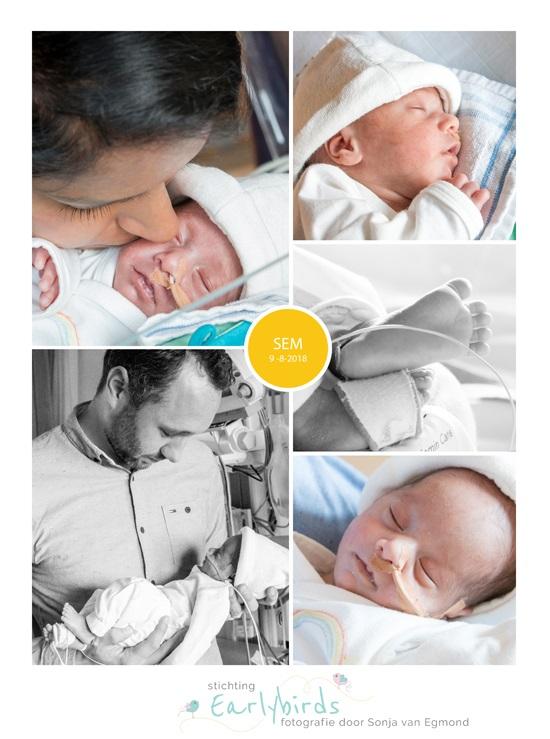 Sem prematuur geboren met 32 weken, LUMC, NICU, buidelen, sonde
