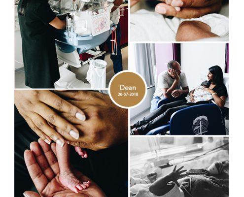 Dean prematuur geboren met 30 weken, gebroken vliezen, LUMC, spoedkeizersnede, JKZ, buidelen, couveuse, Ronald McDonaldhuis