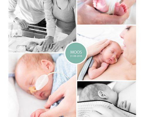 Moos prematuur geboren met 29 weken, CWZ Nijmegen, sonde, longrijping, borstvoeding, weeenremmers, stuitligging, buidelen