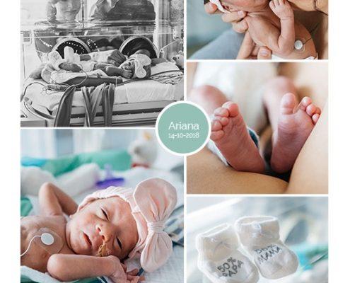 Ariana prematuur geboren met 32 weken en 3 dagen, Lange Land ziekenhuis Zoetermeer, couveuse, buidelen