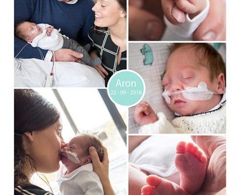 Aron prematuur geboren met 27 weken en 6 dagen, Gelderse Vallei Ede, weeenremmers, longrijping, WKZ, spoedkeizersnede