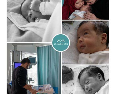 Asya prematuur geboren met 29 weken, OLVG Amsterdam, vroeggeboorte