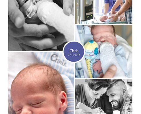 Chris prematuur geboren met 32 weken, St. Antonius ziekenhuis Nieuwegein, sonde, vroeggeboorte