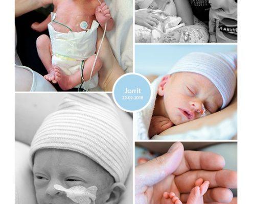 Jorrit prematuur geboren met 35 weken en 2 dagen, Nij Smellinghe, couveuse, buidelen, sonde