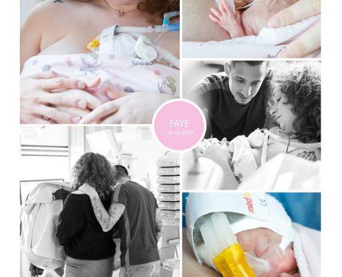 Faye prematuur geboren met 24 weken en 6 dagen, drieling zwangerschap, LUMC, sonde, buidelen, CPAP, groeiachterstand