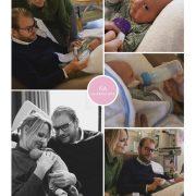 Isa prematuur geboren met 31,5 week, couveuse, sonde, vroeggeboorte, flesvoeding