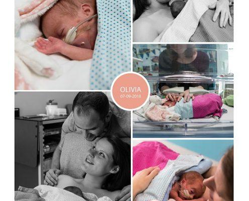Olivia prematuur geboren emt 26 weken en 4 dagen, UZ Leuven, NEC, buidelen, sonde