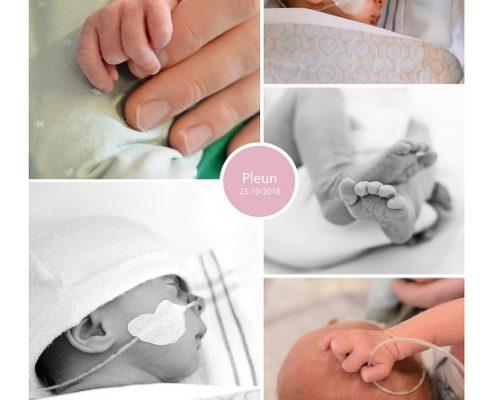 Pleun prematuur geboren met 35 weken, Diakonessenhuis Utrecht, stuitligging, keizersnede, couveuse, borstvoeding, sonde