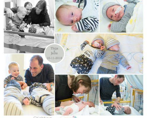 Thijs & Jelte prematuur geboren met 33,5 week, Isala Zwolle, tweeling, TTTS, gebroken vliezen, LUMC, sonde