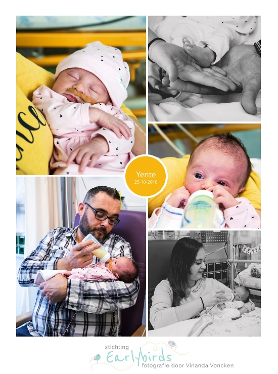 Yente prematuur geboren met 35 weken, AZ Maastricht, sonde, vroeggeboorte