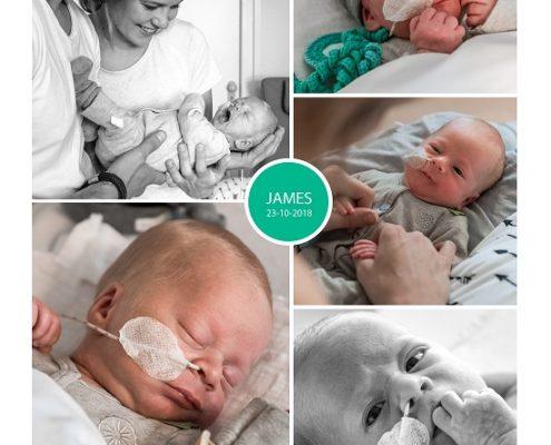 James prematuur geboren met 33 weken, couveuse, CWZ Nijmegen, sondevoeding
