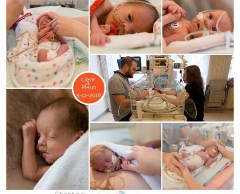 Lieve & Pleun prematuur geboren met 29 weken en 6 dagen, tweeling, sonde, MMC Veldhoven, buidelen