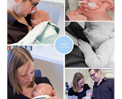 Stijn prematuur geboren met 26 weken, tweeling, sondevoeding, gebroken vliezen, Nij Smellinghe, spoedkeizersnede