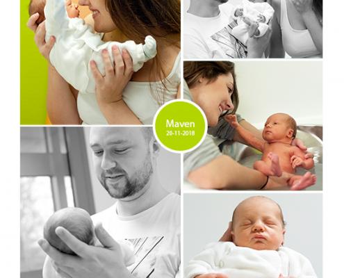 Maven prematuur geboren bij 34 weken en 2 dagen, couveuse, buidelen, Rode Kruis ziekenhuis