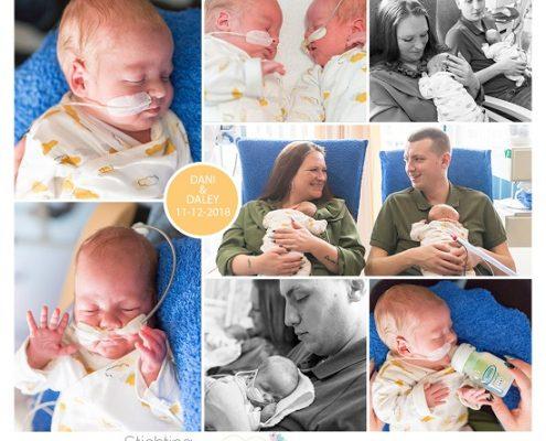 Daley & Dani prematuur geboren met 30 weken, ALbert Schweitzer ziekenhuis, tweeling, ivf, gebroken vliezen, Sophia, Maasstad, sonde