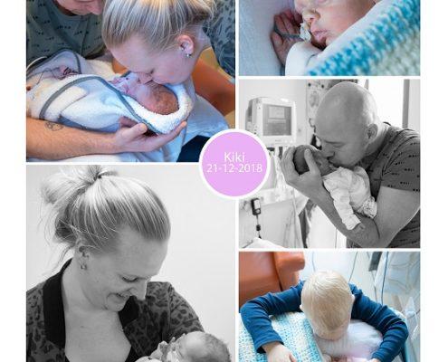 Kiki prematuur geboren met 30+ weken, St. Jansdal, weeenremmers, CPAP, NICU, sonde
