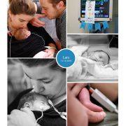 Lars prematuur geboren met 31 weken, weeenremmers, lingrijping, buidelen