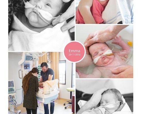 Emma prematuur geboren met 24 weken, vroeggeboorte, flesvoeding, couveuse, sonde, buidelen