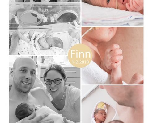 Finn prematuur geboren met 32+ weken, couveuse, longrijping, weeenremmers, gebroken vliezen, MMC Veldhoven