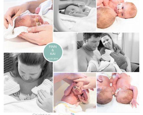 Finn & Kai prematuur geboren met 32 weken en 4 dagen, tweeling, MCH, couveuse, buidelen, sonde