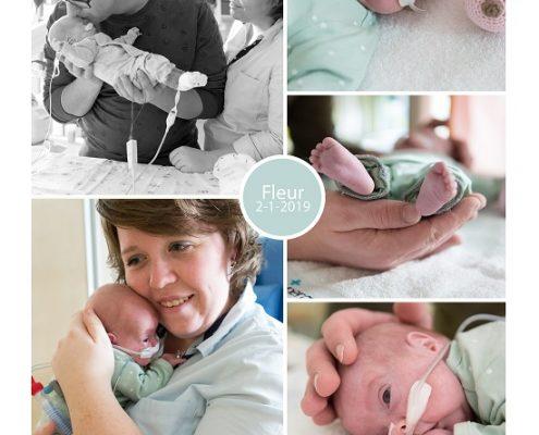 Fleur prematuur geboren met 29 weken, Isala Zwolle, zwangerschapsvergiftiging, couveuse, sonde
